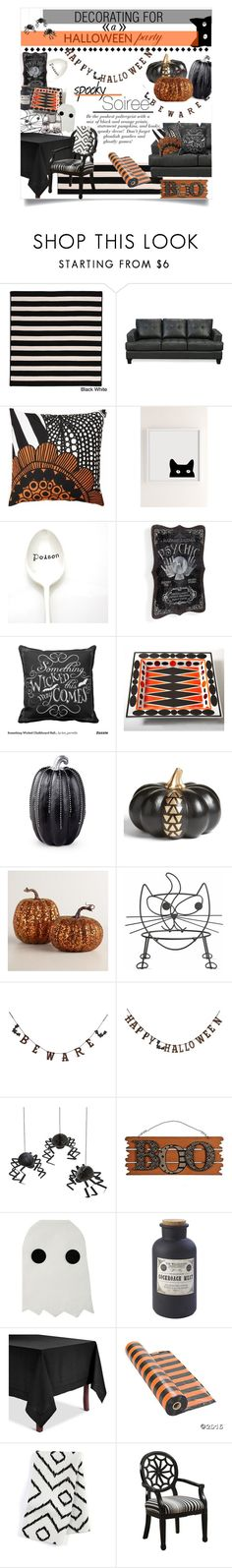 Something Wicked This Way Comes by sierrrrrra on Polyvore featuring interior, interiors, interior design, home, home decor, interior decorating, Coaster, Powell Furniture, Colonial Mills and Meri Meri