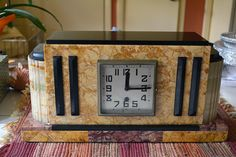1935 - 40 French Marble and Oynx Mantel Clock | Collectors Weekly