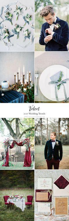 2017 Wedding Trends - Velvet