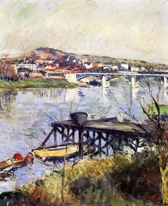 The Argenteuil Bridge by Gustave Caillebotte