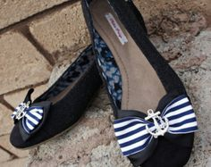 Olivia Paige - Navy Sailor Anchor Pin Up style Shoes size 8 1/2