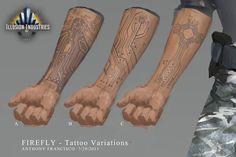 Firefly Tattoo 01 layout by Ubermonster.deviantart.com on @deviantART