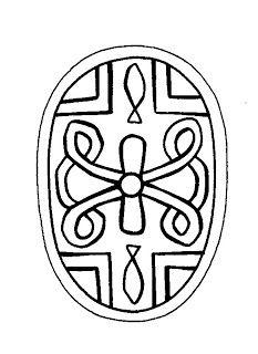 Mandalas Para Pintar: Pequeño mandala con cruz floral II