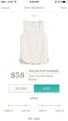 Collective Concepts Zuly Crochet Detail Blouse