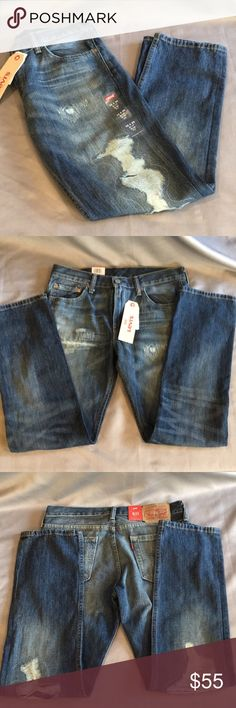 NWT Levi's 511 Jeans 32/30 NWT Levi's 511 Jeans 32/30. Below the waste, slip from hip to ankle. They measure approx 10 inch rise and 30 inch inseam. Checkout my other listings and add to a bundle to save! Levi's Jeans Slim