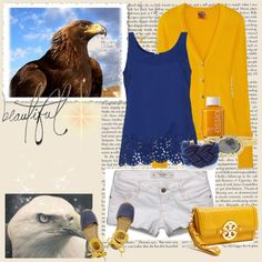 """Georgia Southern gameday outfit"" by bleopard on Polyvore"