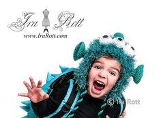 Handmade Crochet ZaZu Space Alien Monster Hat for boys and girls of all ages www.irarott.com
