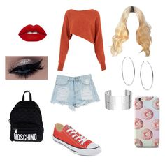 """Today this is me"" by anoai2002 ❤ liked on Polyvore featuring Crea Concept, Converse, Michael Kors, Dinh Van, Lime Crime and Moschino"