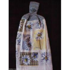 Hand Crochet Top Hand Kitchen Dish Towels NEW - DASIES
