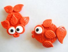 Magnet Goldfish handmade polymer clay magnets  2  by digitsdesigns, $9.00