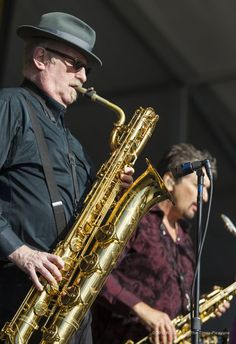 Jazz Fest 1 / 12 Tower of Power plays on the Congo Square Stage at the New Orleans Jazz & Heritage Festival on Thursday, May Tower Of Power, Saxophones, Rock News, Fighter Pilot, Bari, Congo, West Coast, New Orleans, Plays