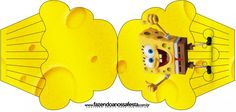 Convite Cupcake Bob Esponja - Um Herói Fora D'Água