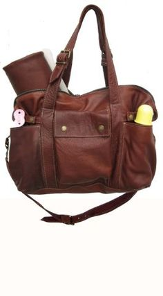 'Not Rational' Hansel Nappy Bag-Brandy Leather.