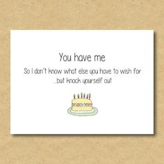 Funny Boyfriend / Girlfriend Birthday Card by AimeeClareDesigns