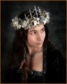 Silvery Icicle Fantasy Elfin Headdress Crown by SEStudio on Etsy, $125.00