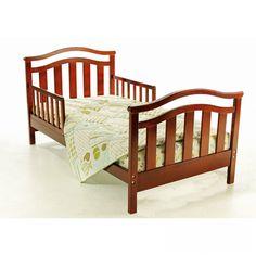 Dream On Me Elora Toddler Bed in Cherry, Red Nursery Furniture, Kids Furniture, Wooden Toddler Bed, Toddler Rooms, Wood Detail, Girl Decor, Crib Mattress, Grey Bedding, Kid Beds