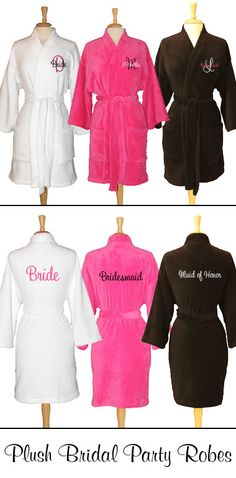 Plush bridal party robes