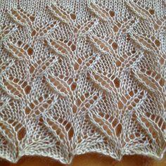 Eyelet Knitting Stitch PatternWhat a lovely stitch! Free...