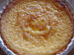 Egg Custard Pie (don't have to make the crust, you just put every thing in the blender and the crust forms as its cooking) ~~oh man, made this this morning. Lilly and I ate it before it was very cool and we both loved it!  Yummmmmmm!~~