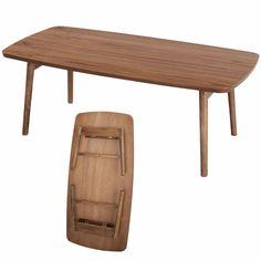 Folding Legs Coffee Center Table TAC-229 Folding Table Japanese Furniture Walnut…