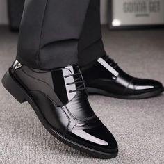 Linson123 Mens Leather Shoes Pointed Business Dress Shoes Casual Fashion Mens Shoes Wild(Black Lable 43//9 D M US Men)