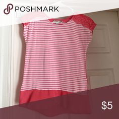 t-shirt a pink and white striped kids t-shirt Speechless Tops Tees - Short Sleeve