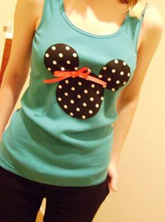 DIY Disney Shirt (via huckleberryprairie.com) So Cute!!