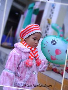 Free Crochet Beret & Scarf For Kids Pattern.
