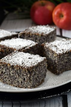 Sweet Desserts, Sweet Recipes, Dessert Recipes, Biscotti, Poppy Seed Cake, Polish Recipes, Baked Goods, Cheesecake, Food And Drink