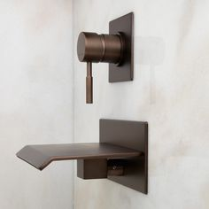LAVELLE WALL-MOUNT WATERFALL TUB FAUCET - OIL RUBBED BRONZE    $349.95 @ Signature Hardware