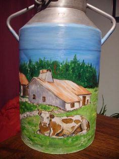 bidon de lait peint - Recherche Google
