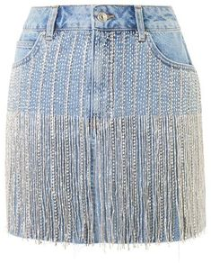 DIY Split Leg Pants (No Sewing Required) Topshop Moto crystal seam denim skirt Rock Dress, Skirt Outfits, Cute Outfits, Jean Diy, Denim Fashion, Fashion Outfits, Blue Denim Skirt, Denim Skirts, Jean Skirt
