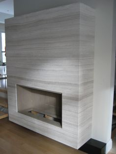 Fireplace surround made with Bianco Milano marble