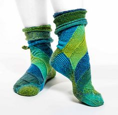 Curlywhirly is the third of a sock series especially created for