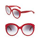 Dolce&Gabbana Polka Dot Oversized Cat Eye Sunglasses