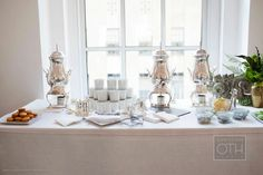 Such an elegant way to serve tea, from silver Samovars -by Matthew Robbins Design
