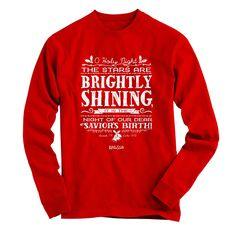 Kerusso Christian Christmas T-Shirt   O Holy Night   Long Sleeve