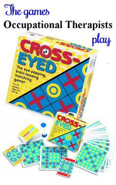 Cross-Eyed - A great visual perceptual matching game that will require focus and concentration. For ideas on adapting this and many more every day games for therapy, visit The Playful Otter (OTR).