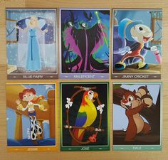 Set of trading cards I got from the D23 convention. 8/15/2015