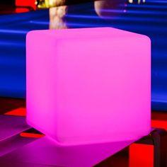 $179.00   Futuristic Furniture,  Neon, Outdoor LED Light Cube 16″ – Cordless with remote control, Neon, Rave, Modern Home   FuturisticSHOP.com