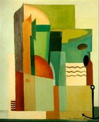 Lescaut à Doel by Marcel-Louis Baugniet 1927