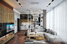 Стили разных эпох в интерьере гостиной.
