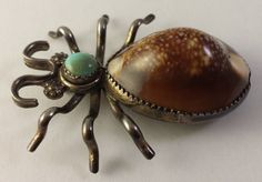 Huge Vintage Navajo Indian Sterling Silver Bug Pin with Turquoise and Shell in Jewelry & Watches, Ethnic, Regional & Tribal, Native American | eBay