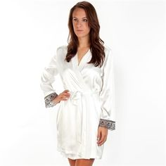Linea Donatella Sasha Satin Wrap Robe   from Von Maur #VonMaur #IntimateApparel