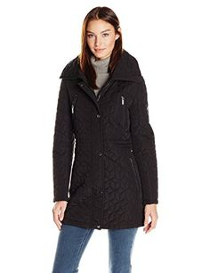 """This quilted jacket has a removable faux fur hood and front zipper. It is a lightweight anorak.       Famous Words of Inspiration...""""Feminism is the radical notion that women are human beings.""""   Cheris Kramerae — Click here for more from...  More details at https://jackets-lovers.bestselleroutlets.com/ladies-coats-jackets-vests/quilted-lightweight-jackets/product-review-for-calvin-klein-womens-quilt-jacket-with-faux-fu"""
