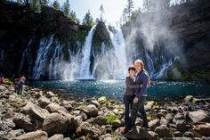 Laurence & Jess at Burney Falls in northern California