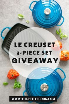 Enter this fabulous Le Creuset Giveaway, for a chance to win a Cast Iron Starter Set worth o Low Fat Cooking, Cast Iron Cooking, Grilled Veggies, Grilled Asparagus, Tequila Lime Chicken, Le Creuset Cast Iron, Honey Salmon, Carrot Ginger Soup, Caprese Pasta