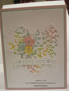 Afbeeldingsresultaat voor stampin up bloomin love Scrapbooking, Scrapbook Cards, Wedding Anniversary Cards, Wedding Cards, Bloomin Love Stampin Up, Valentine Love Cards, Valentine Ideas, Stampinup, Stamping Up Cards