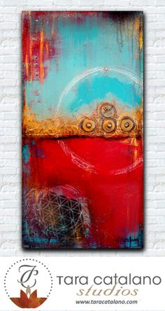 """""""Simplify Your Riches"""" Abstract painting by Tara Catalano.  Love the composition"""