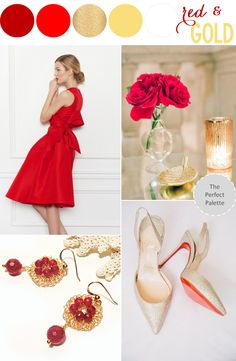 Color Story | Red + Gold http://www.theperfectpalette.com/2013/10/color-story-red-gold.html